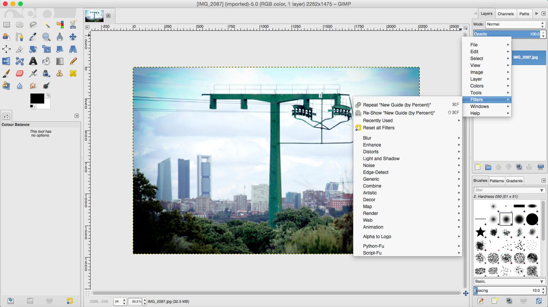 Basic Photo Retouching in GIMP using filters