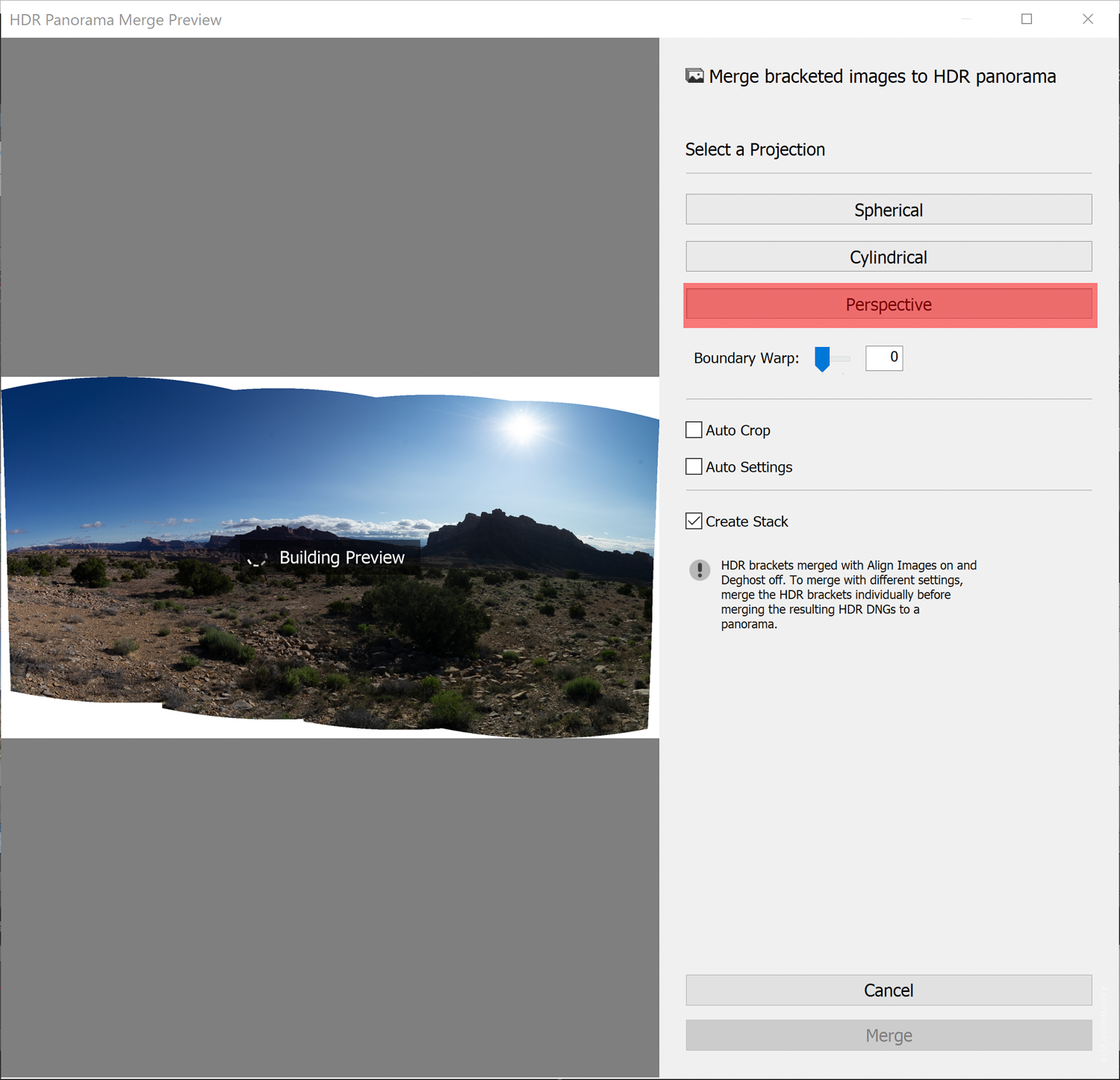 How to Use the HDR Panorama Photo Merge in Lightroom Classic CC