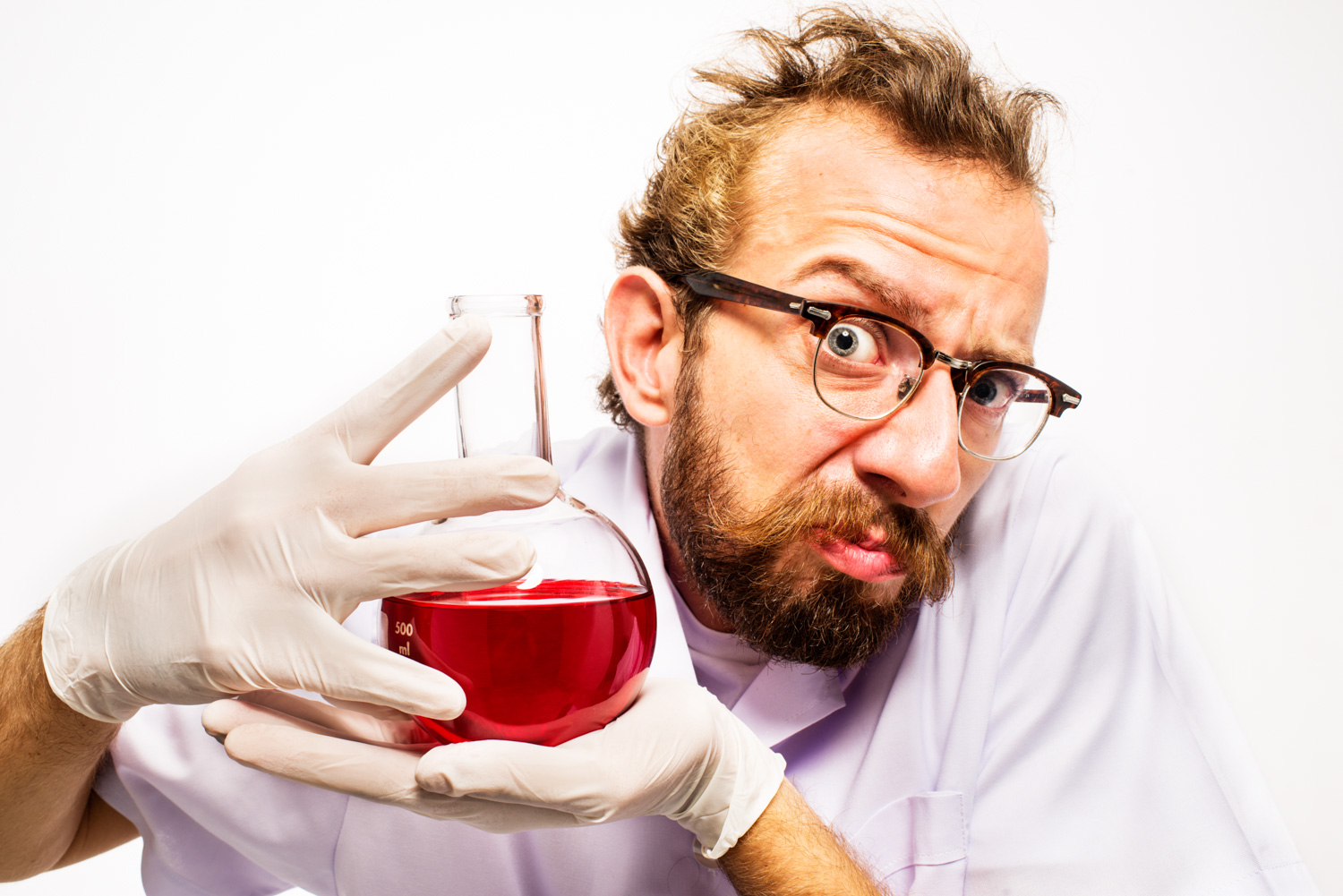 21 Tips For Stock Photography Mad Scientist With Red Liquid