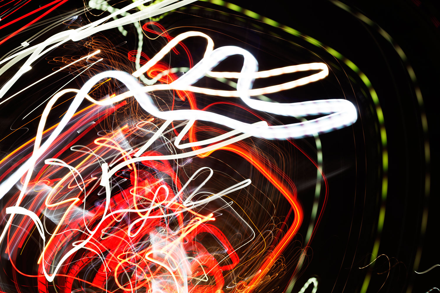 Image: Taken over two seconds at f/4 and ISO 100, this tangle of lights demonstrates the path of the...