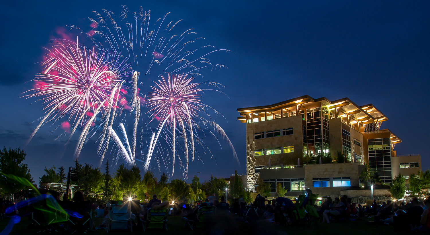 Image: You can pretty much count on a crowd at a fireworks show. Get there early to stake out your s...