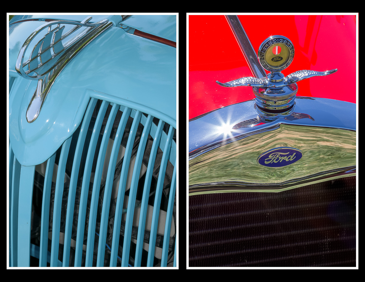 abstract hood ornament compositions