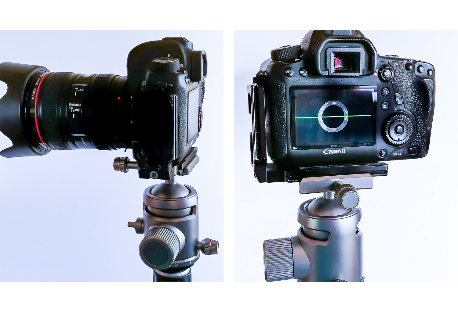 Image: Using the L-bracket with the camera in landscape orientation will require you to choose to pu...