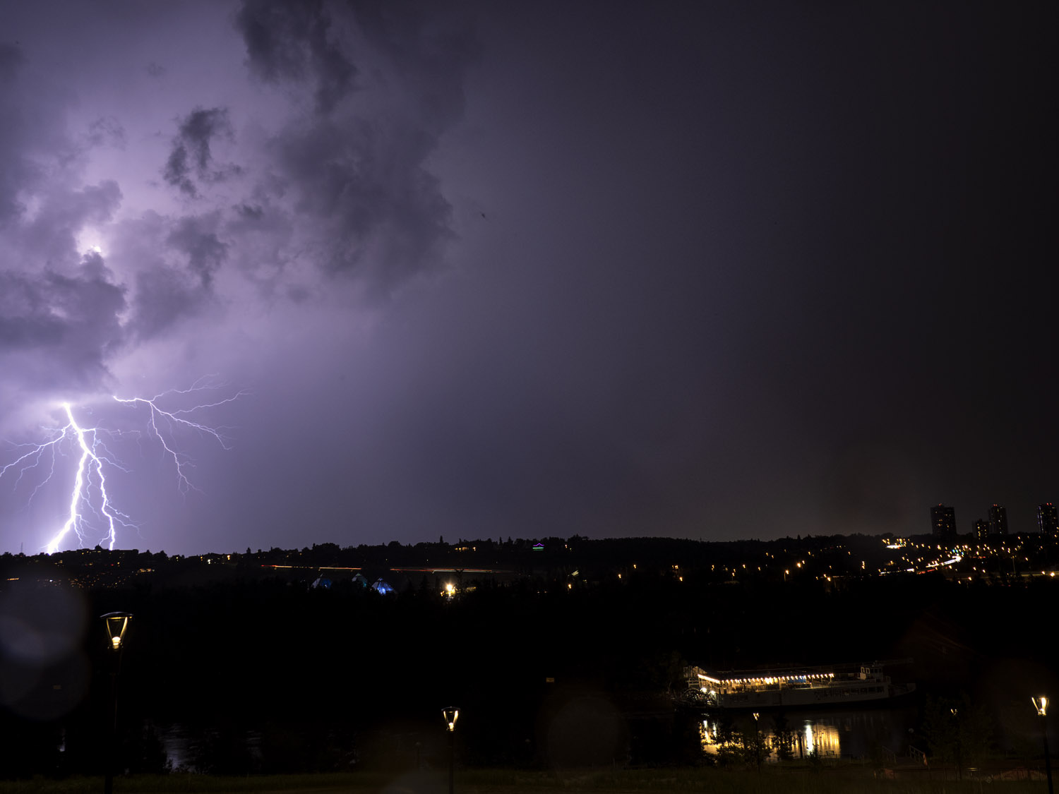 Image: Lightning storms work incredibly well with Live Composite, especially if there is a lot of ne...
