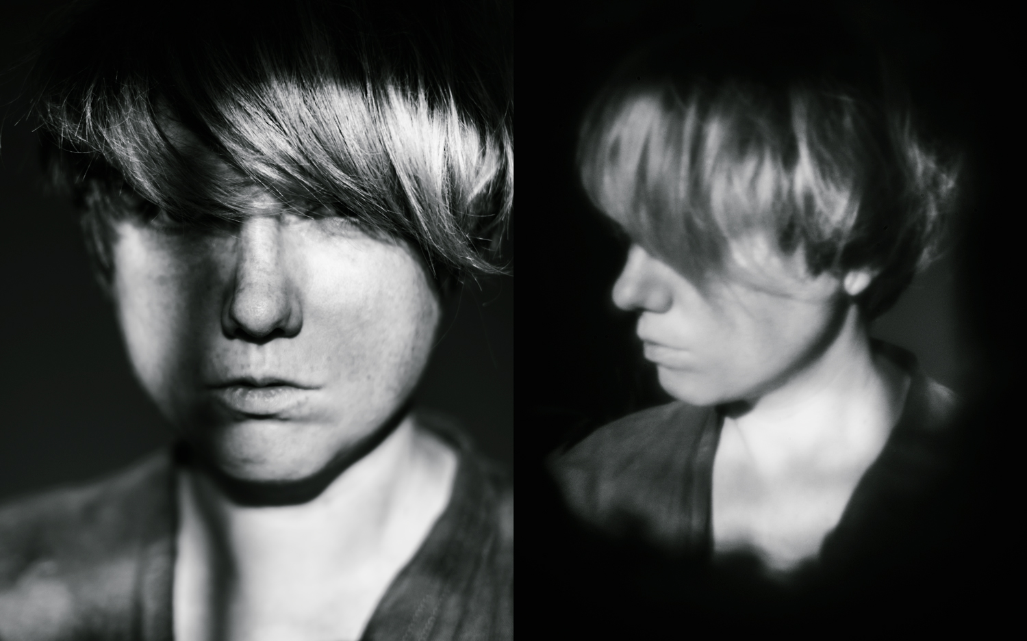 comparison of sharp portrait and pinhole portrait