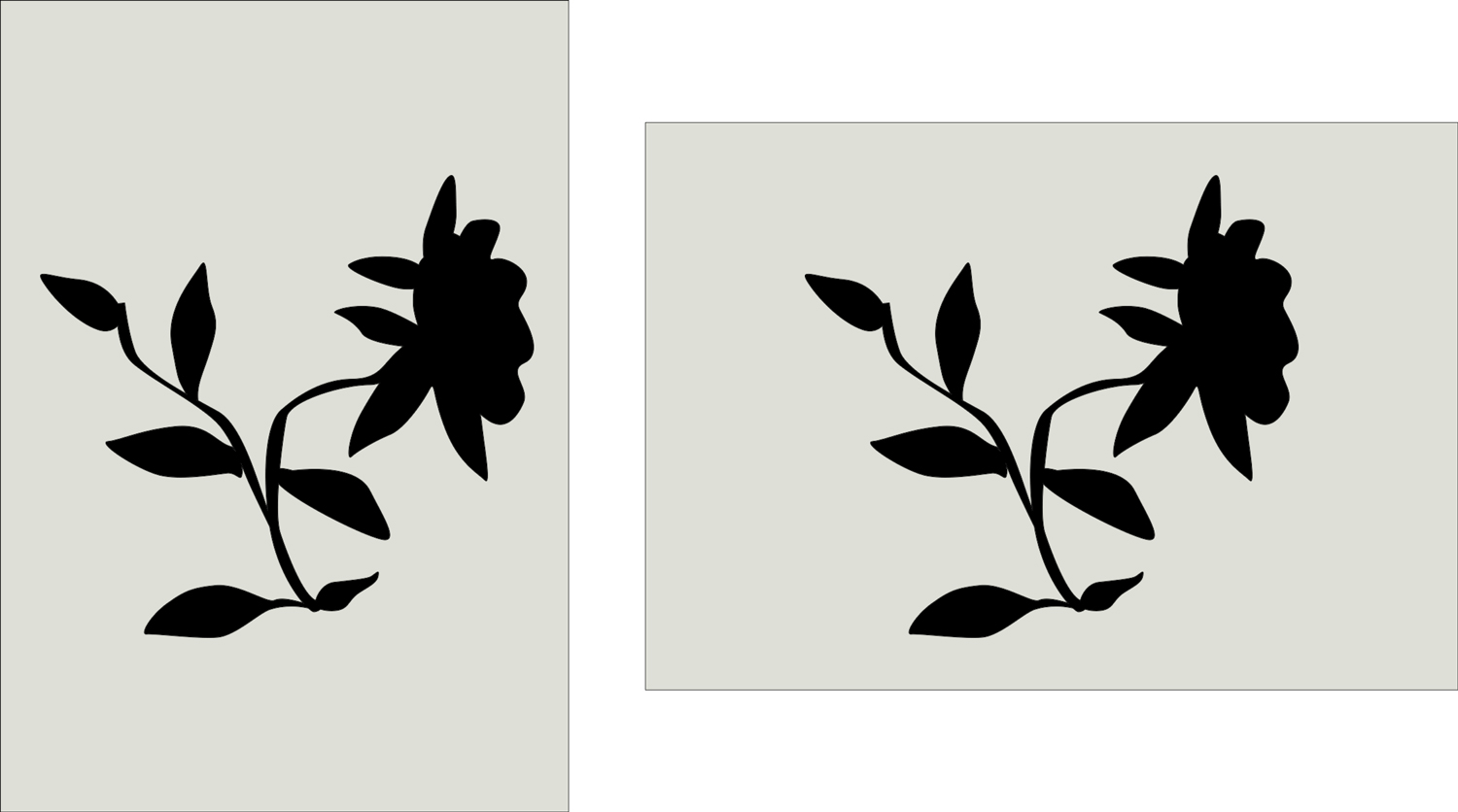 flower silhouette example