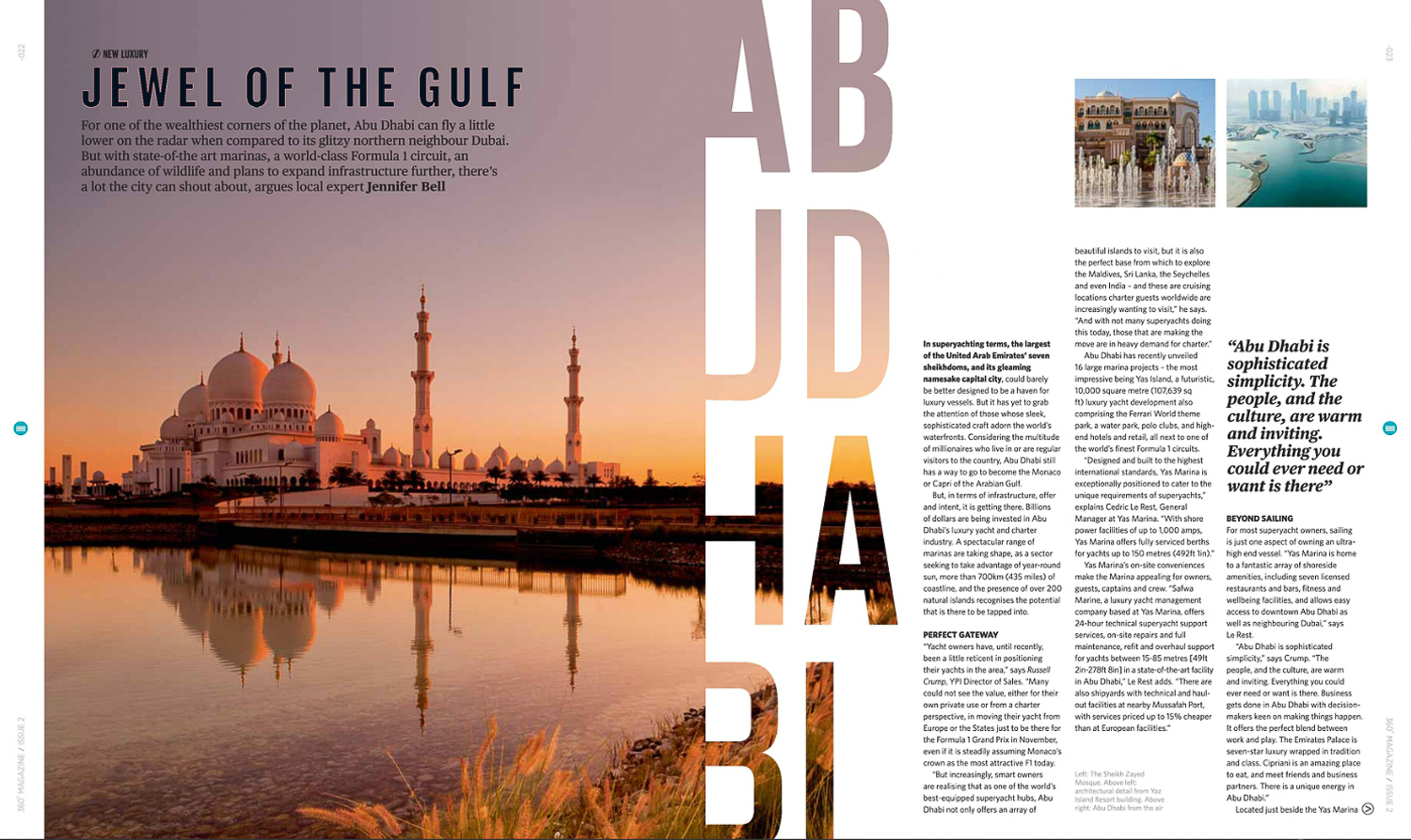 Image: An example of a travel article in 360ºMagazine by Jennifer Bell.