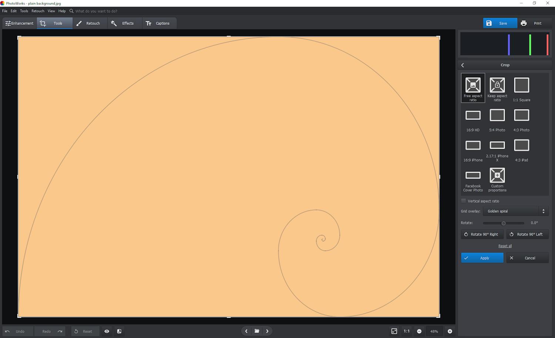 the golden spiral crop composition