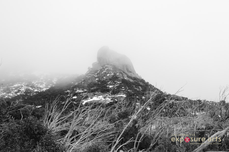 Image: Cathedral Rock and the Hump Mt Buffalo in Winter  by Caz Nowaczyk