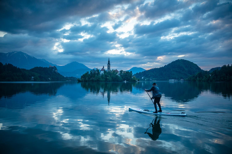 Image: Paddleboarding, Lake Bled, Slovenia
