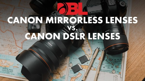 Video: Canon RF vs EF Lenses on the Canon Mirrorless System