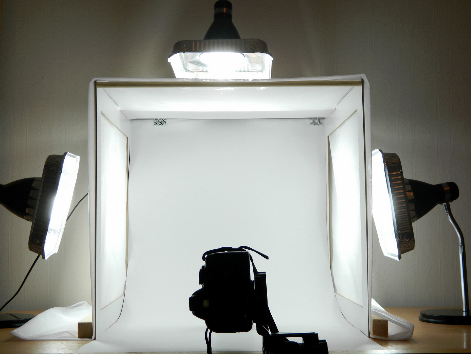 Image: Light tents can easily be made at home by constructing a simple frame and covering it with tr...