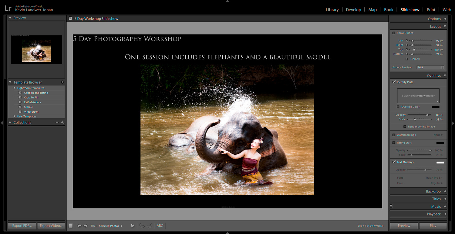 Using Lightroom To Create Slideshows text
