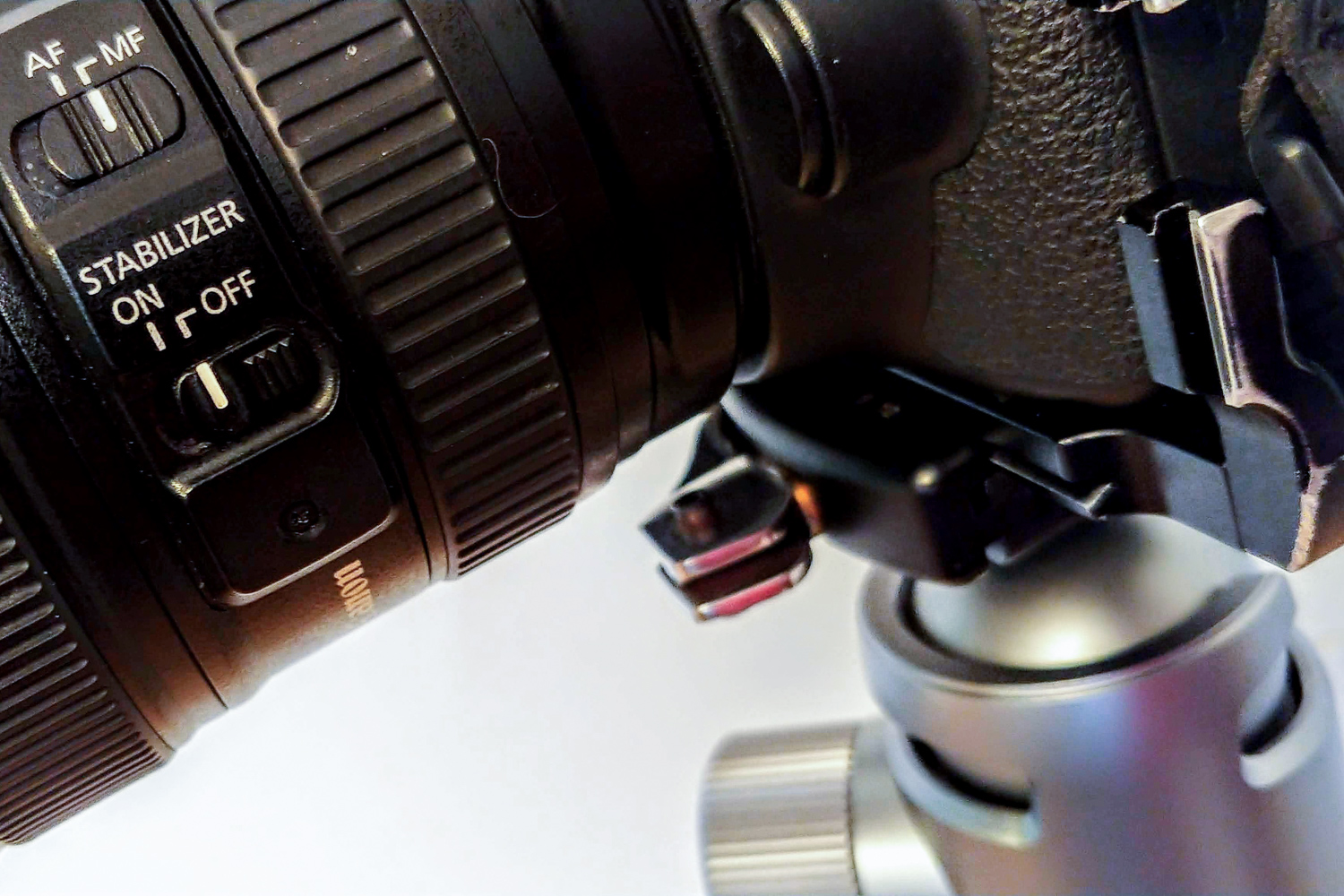 Image: When working on a tripod, turn off the image stabilization. It won't help, and in fact,...