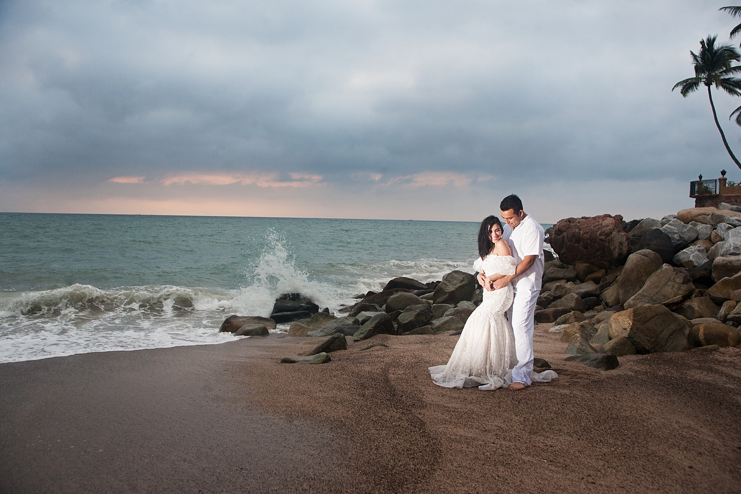 Image: Only one flash was used to camera left pointed at clients directly while I stood about 45 deg...