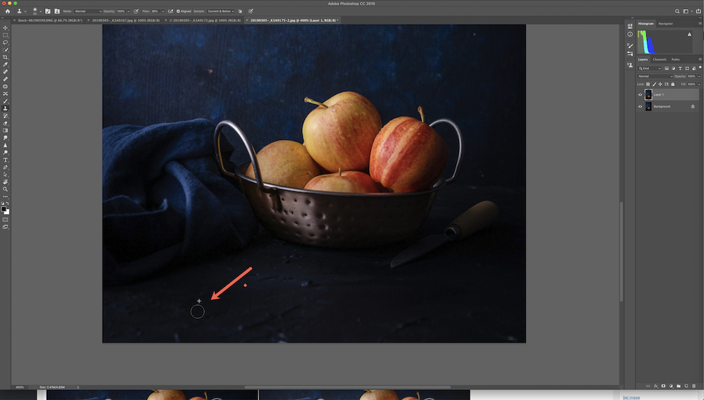 Photoshop tolls for still life photography