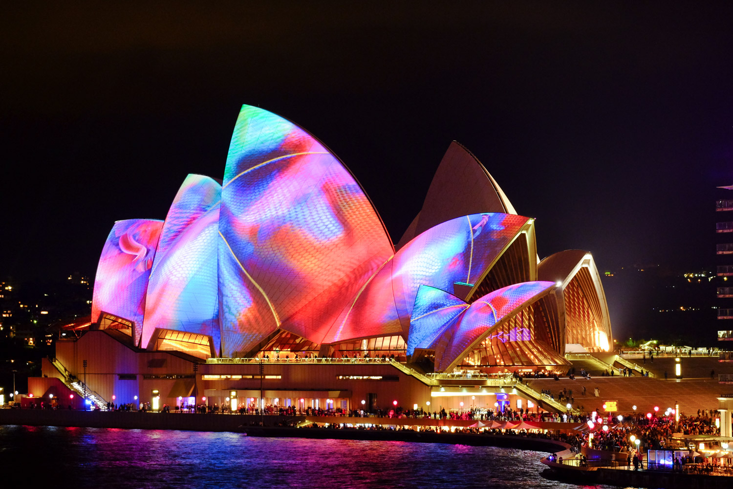 Image: OIS is a solution, sometimes even when shooting on a tripod. Sydney Opera House during Vivid F ...