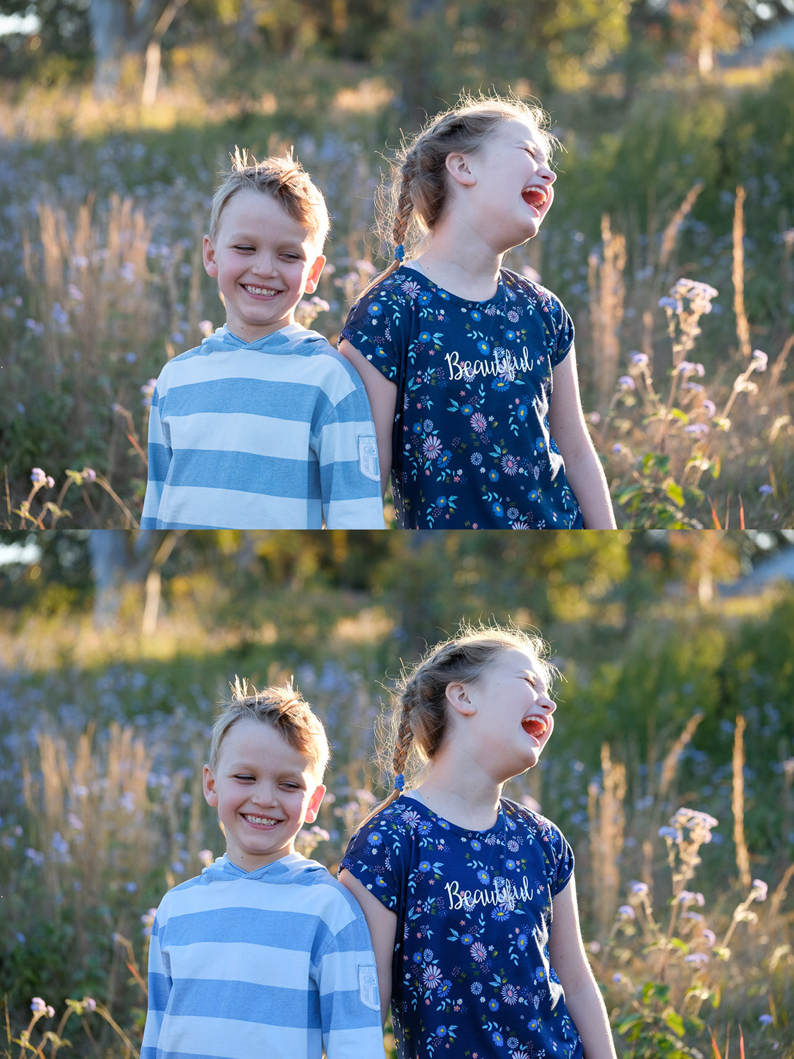 Image: Top: Kids in a filed RAW file. Bottom: Asita JPG. Lovely colors and tones, though they are no...