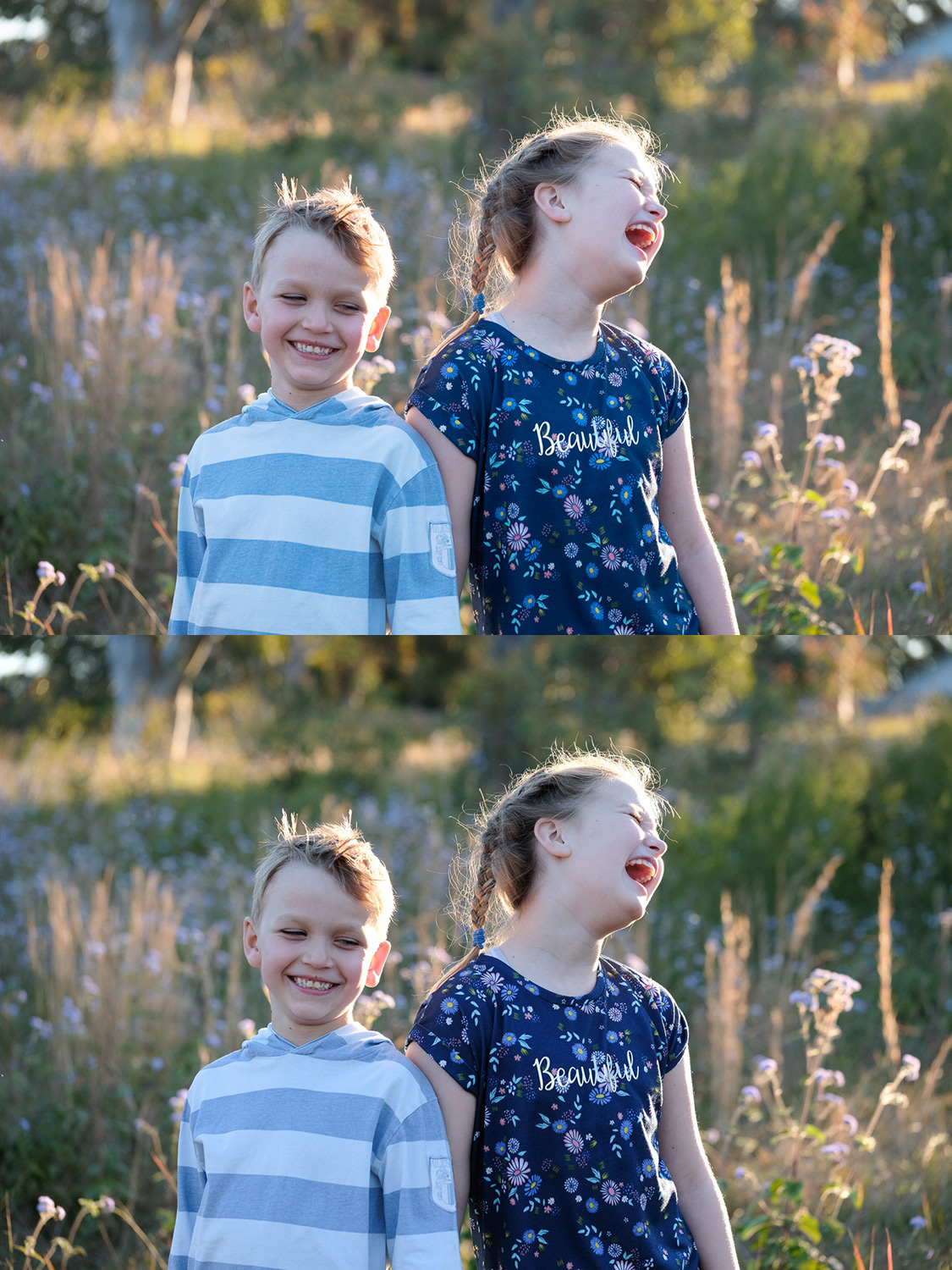 Image: Top: Kids in a filed RAW file. Bottom: Pro Neg Hi JPG. I love the colors, contrast, and tones...