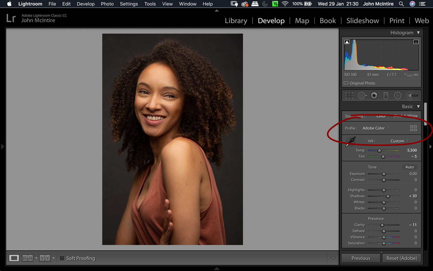 Things to do to every photo in Lightroom - Color Profiles