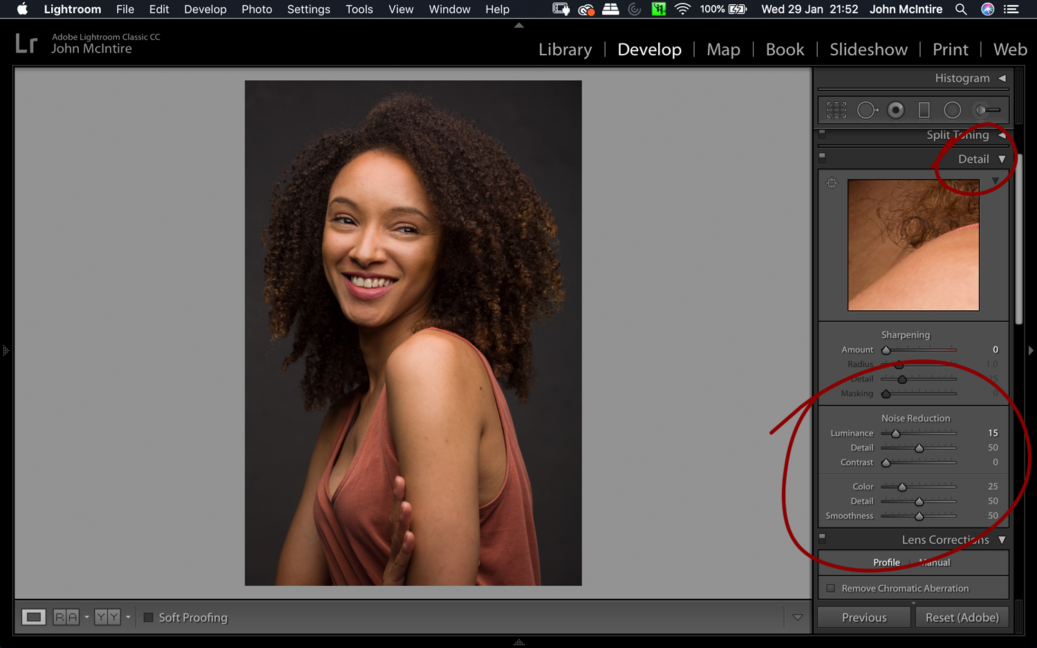 Things to do to every photo in Lightroom - Noise
