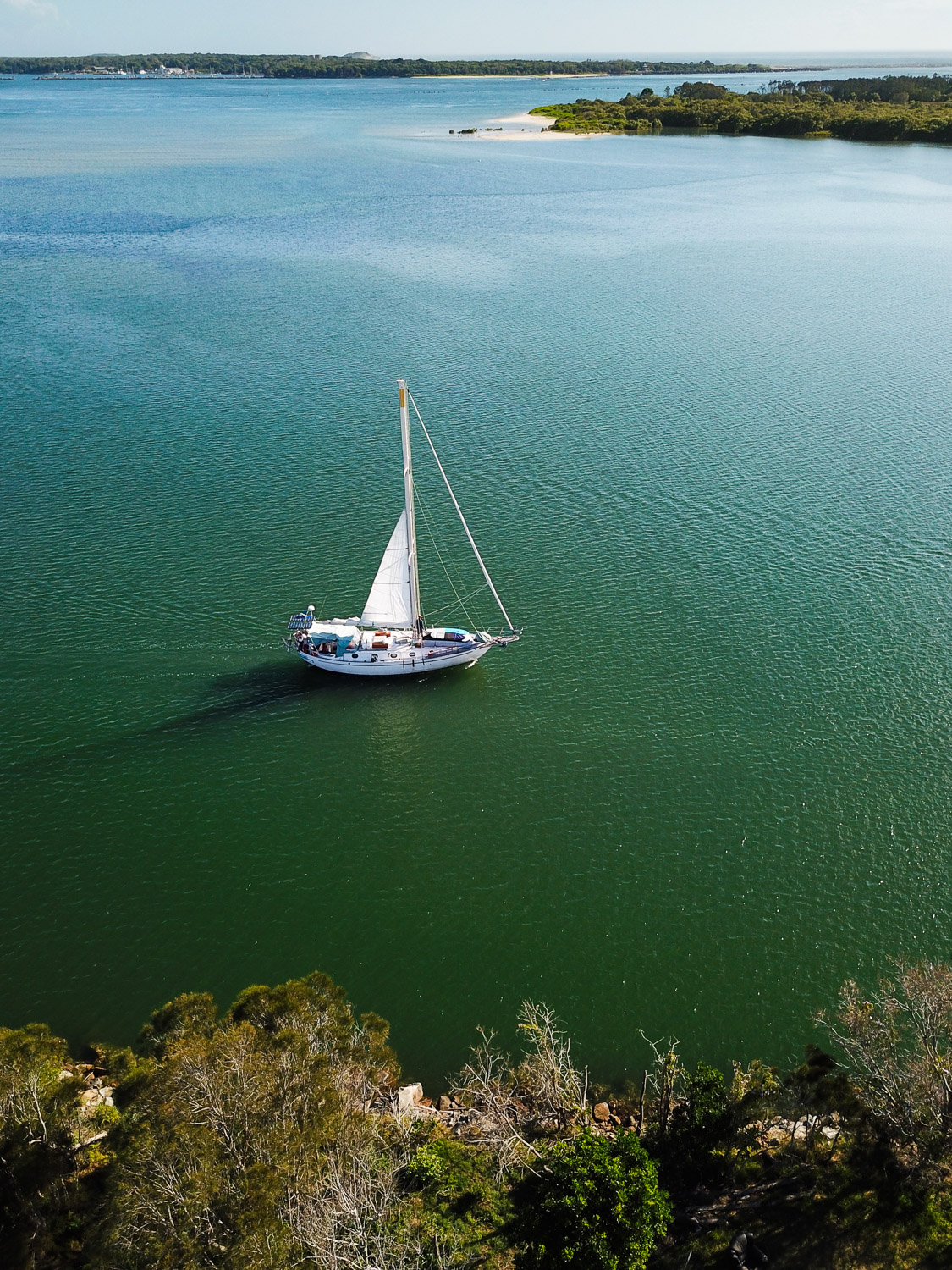 Image: By chance, I saw this boat sailing past when I was taking aerial images of fishing boats in Y...