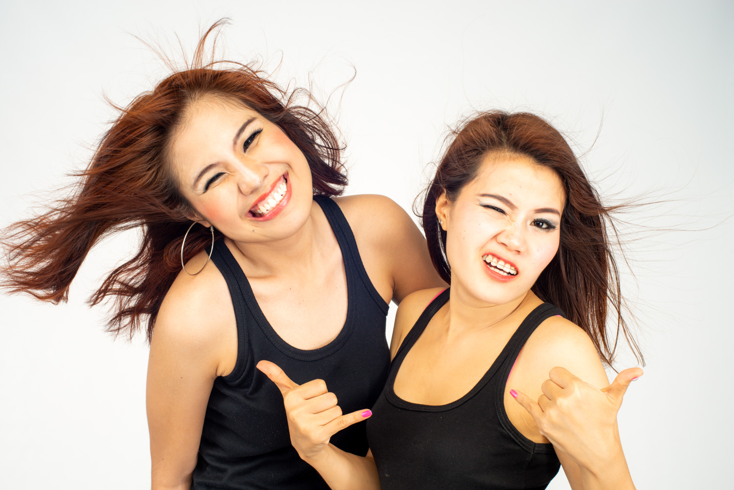 Two Thai girls in the studio