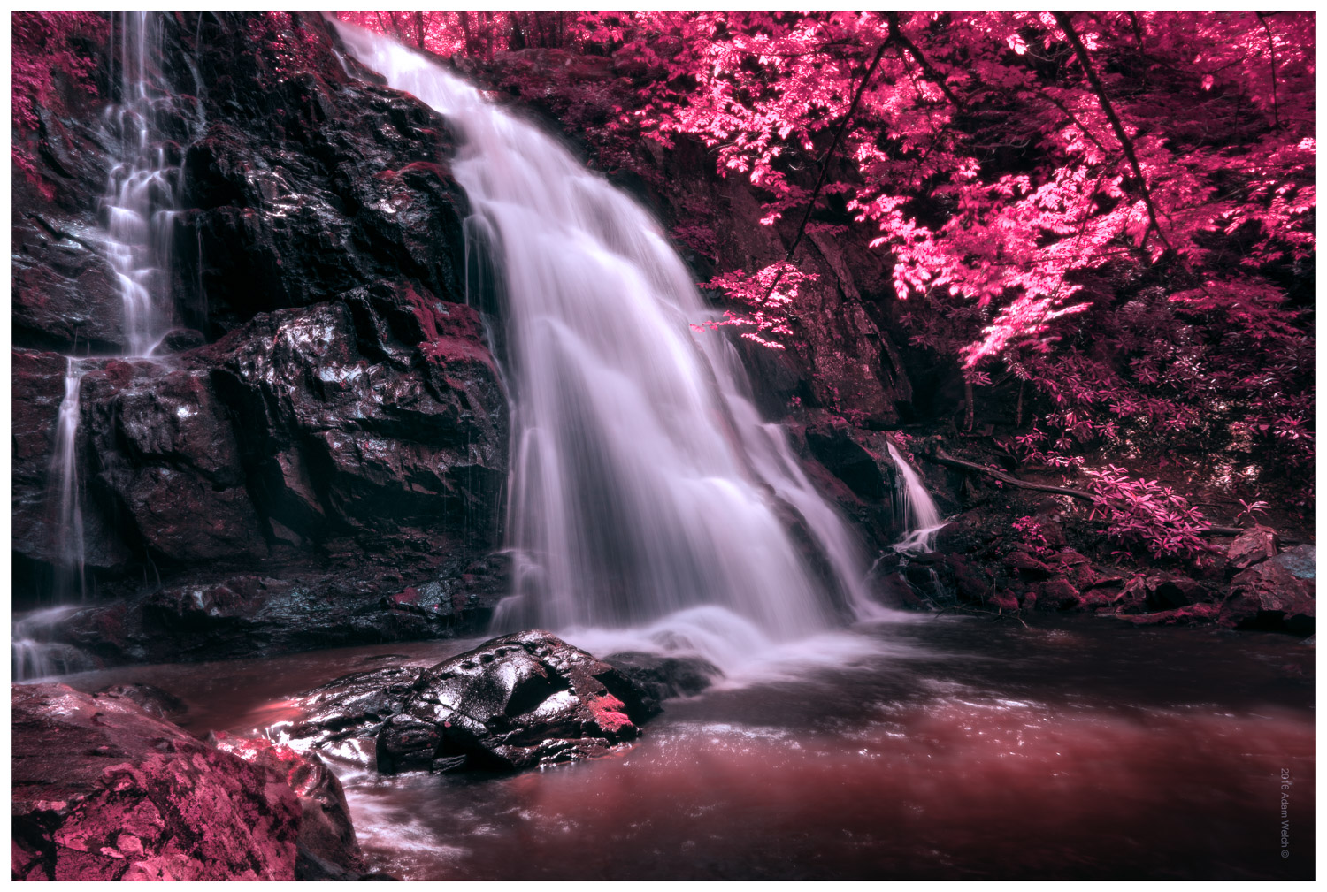 A waterfall of Infrared photography in Photoshop
