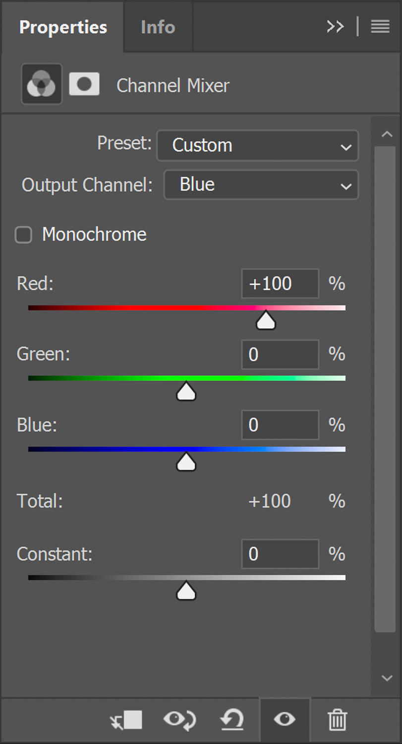 Blue channel swap for Infrared photography in Photoshop
