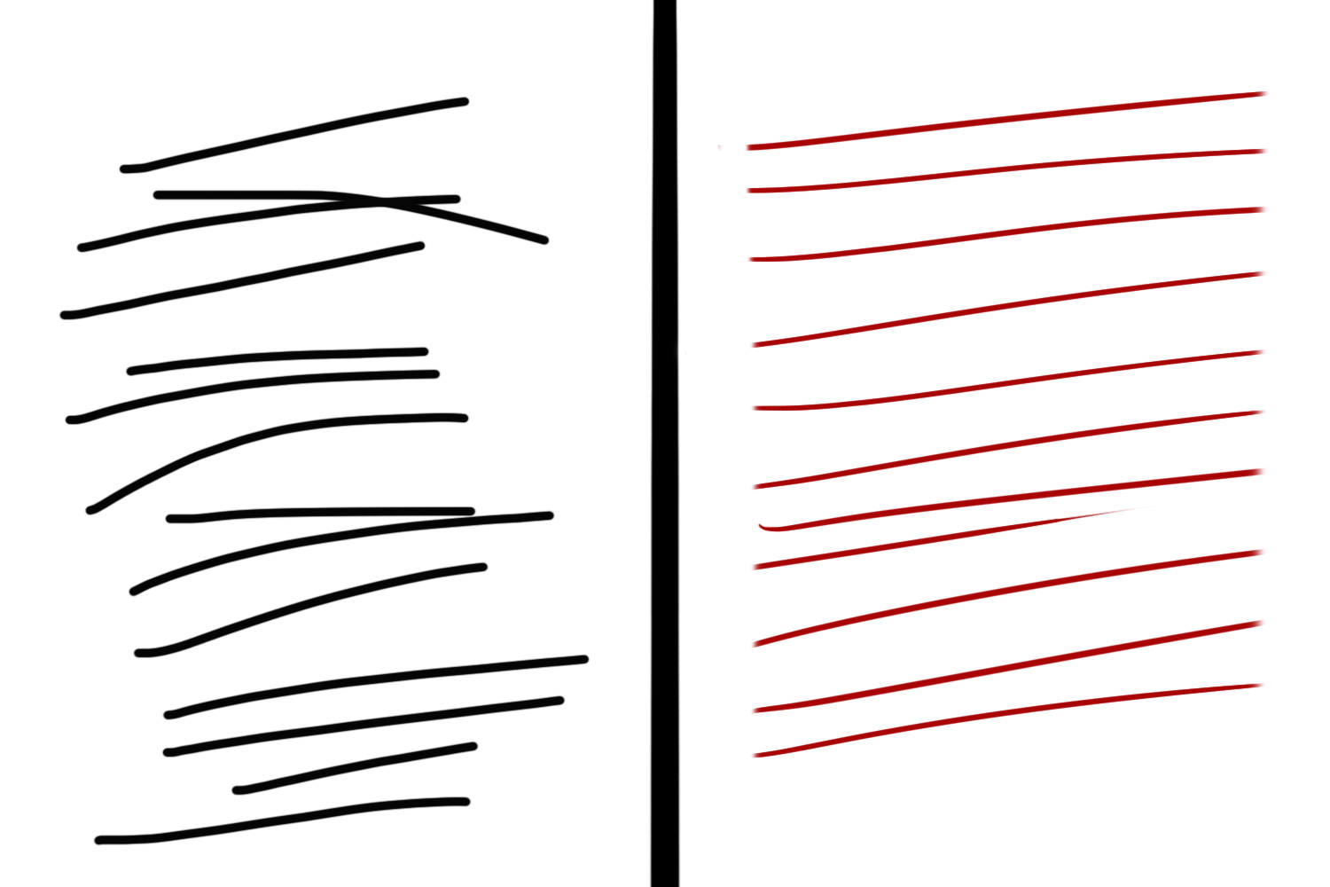 Using a graphics tablet for cleaner and more consistent lines.