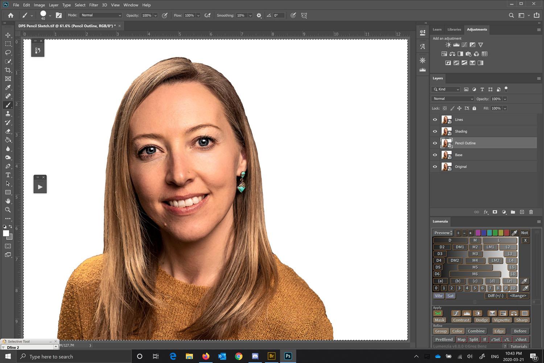 How to convert a photo into a pencil sketch