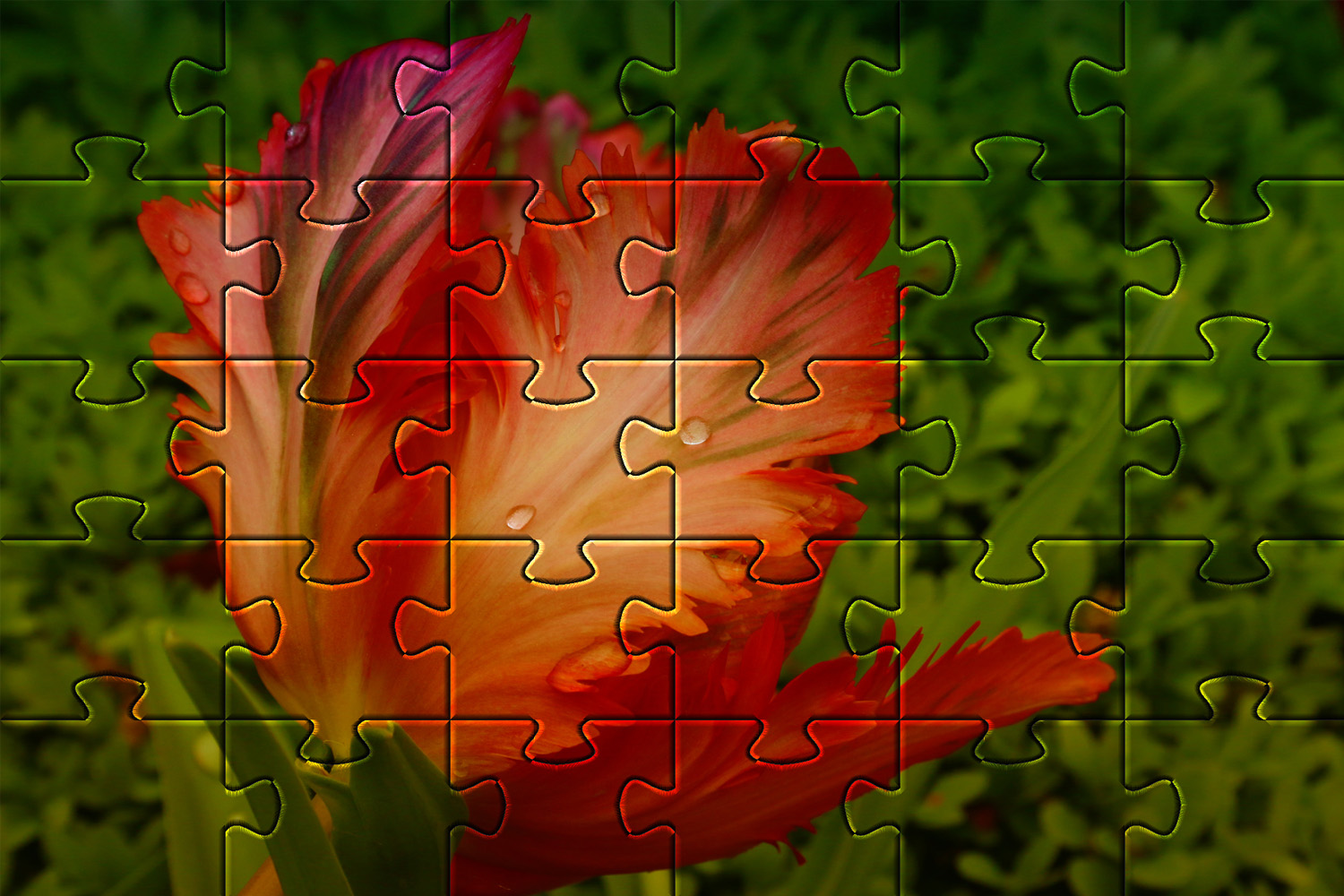 Example of GIMPs Jigsaw Pattern