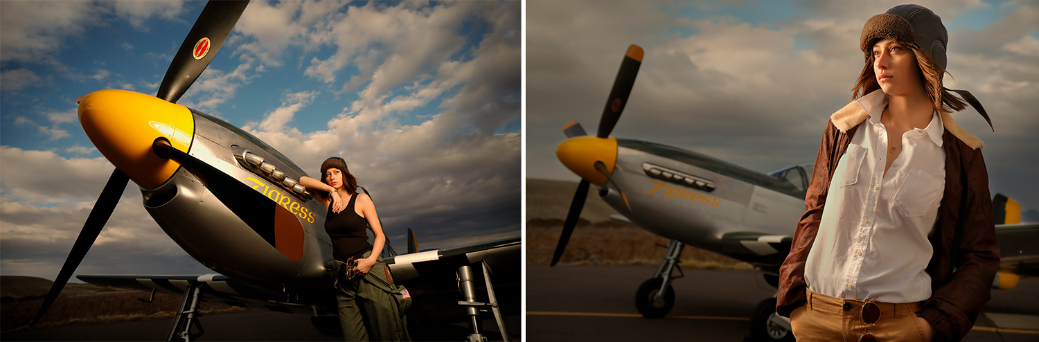Canon Explorers of Light Series Q&A with photographer Bruce Dorn – Photographs of Woman beside an aircraft in afternoon light