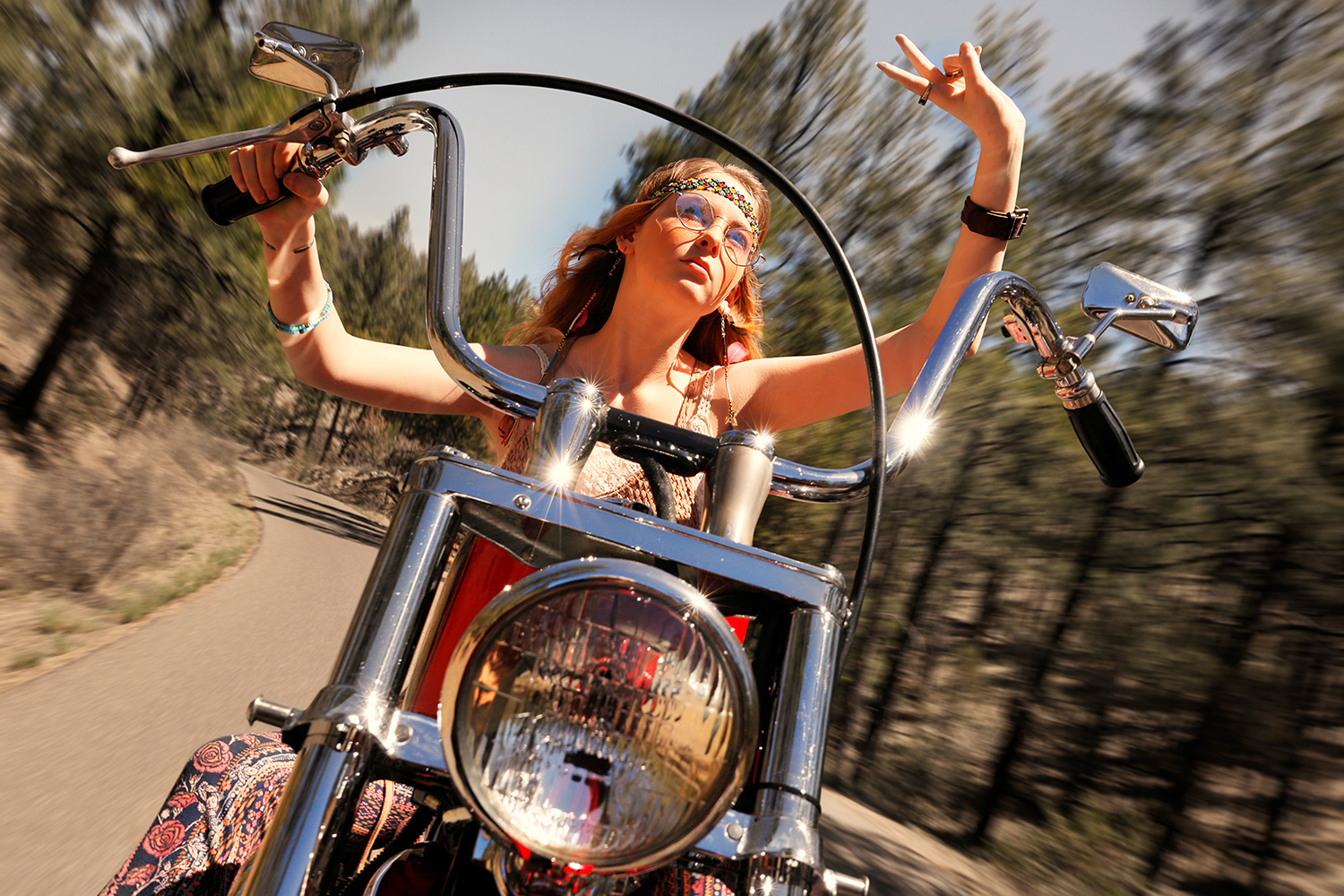 Canon Explorers of Light Series Q&A with photographer Bruce Dorn – Young woman on a motorcycle