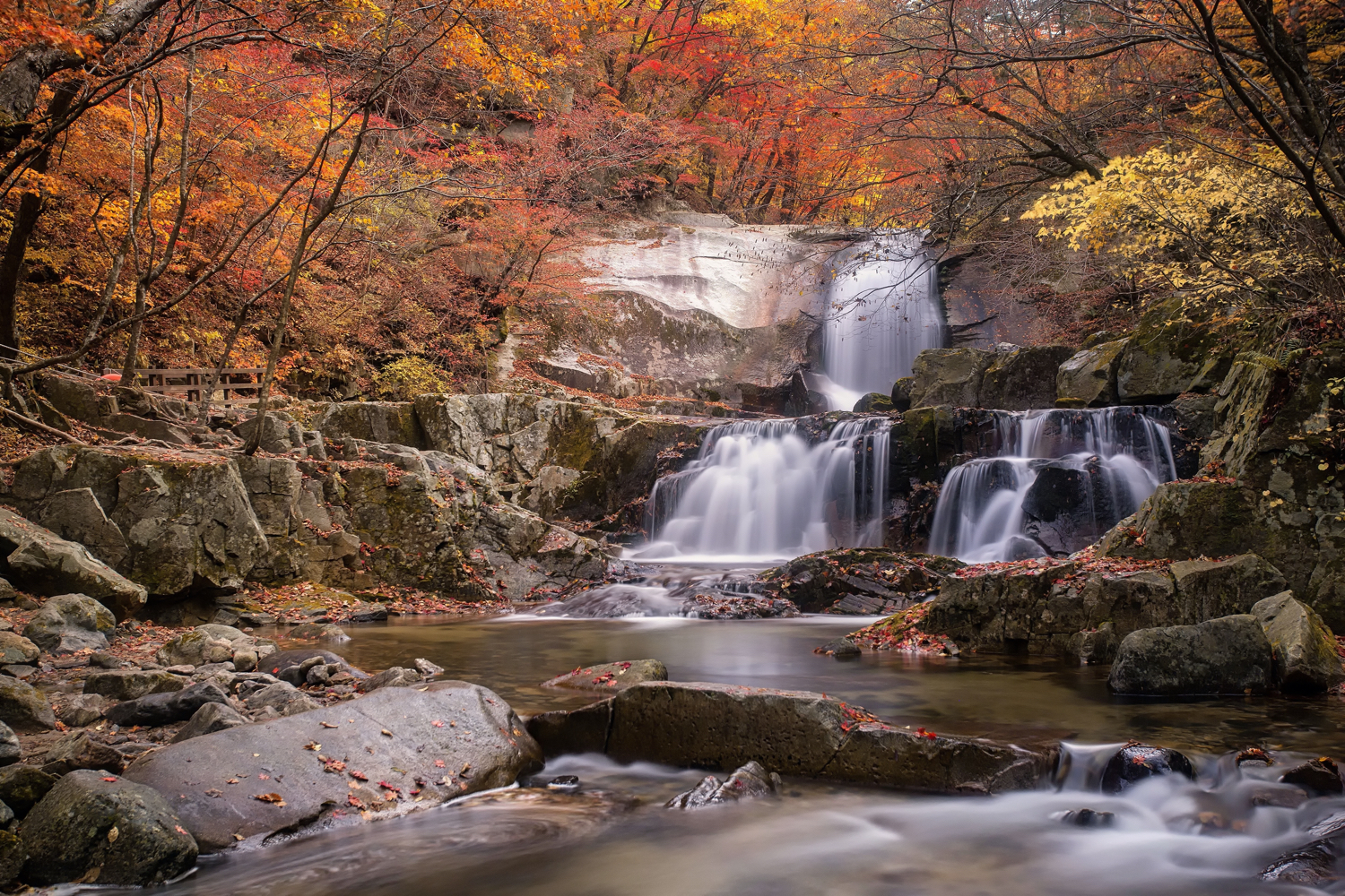 filters for long exposure landscapes - waterfall in the fall