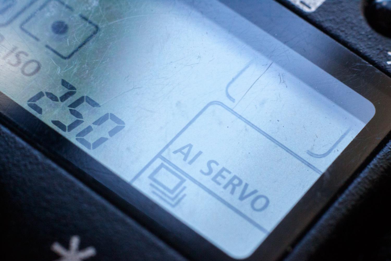 ícone do modo burst em uma câmera canon 5D mk II