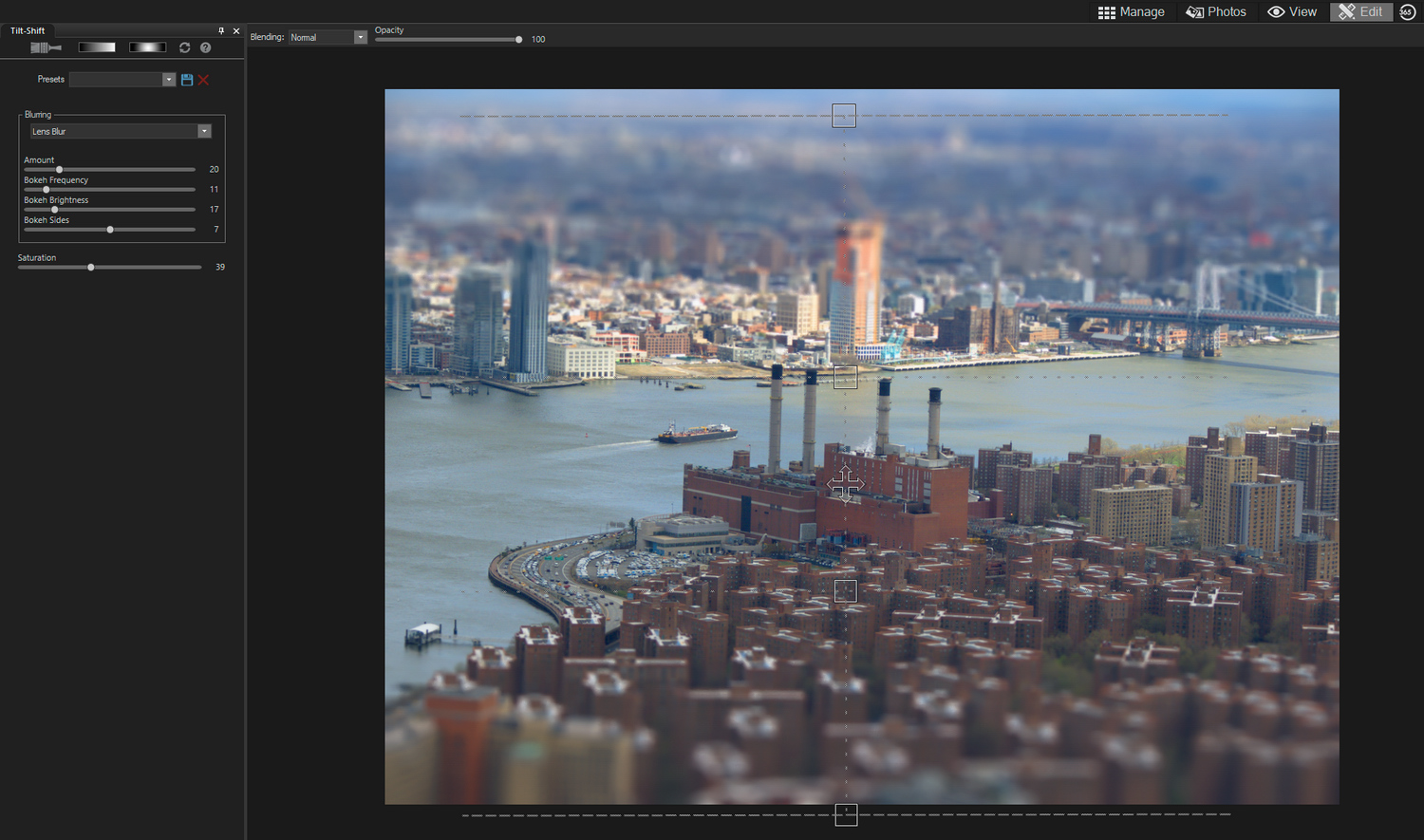 ACDSee Photo Studio Home 2020 - tilt-shift tool