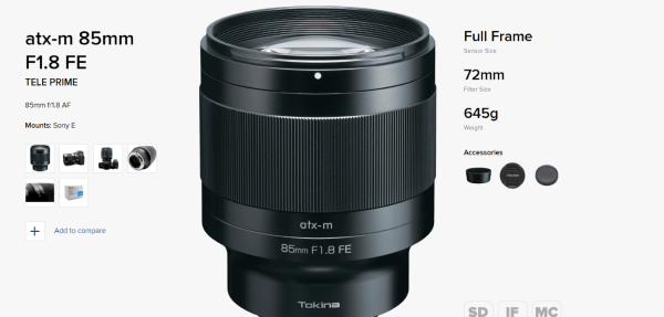 Tokina Announces 6 Lens Roadmap for Fujifilm, Sony, Canon, Nikon