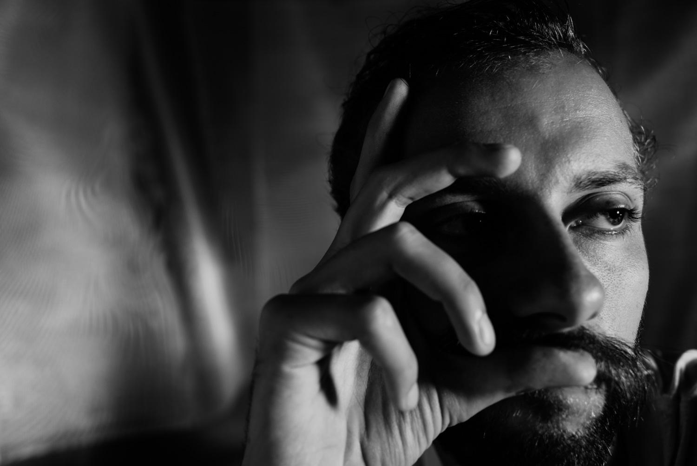 Portrait of a man in the studio