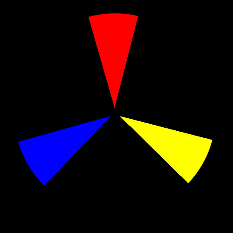 Cores primárias para exercícios de fotografia em cores.