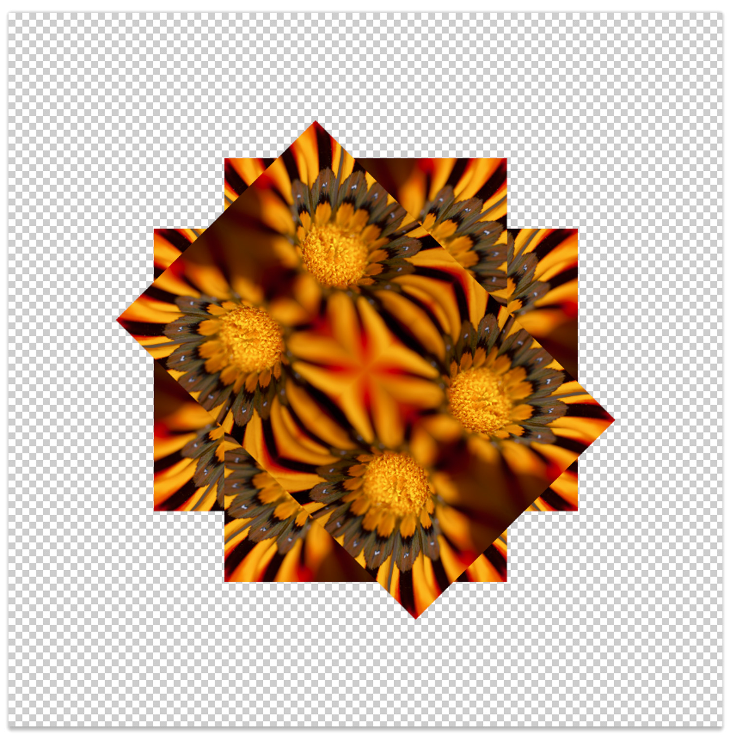 create mandalas in photoshop with stack modes – rotating the image