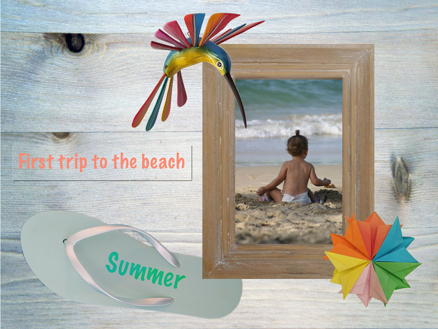 Digital Scrapbooking using GIMP