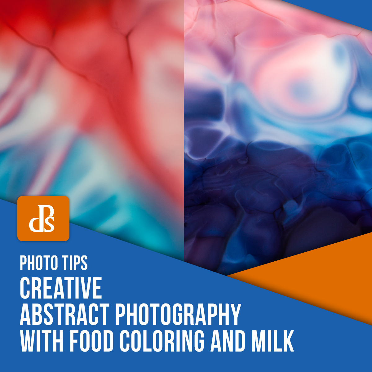 Creative Abstract Photography with Food Coloring and Milk featured image