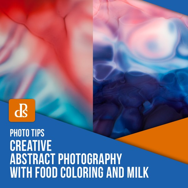 Creative Abstract Photography with Food Coloring and Milk