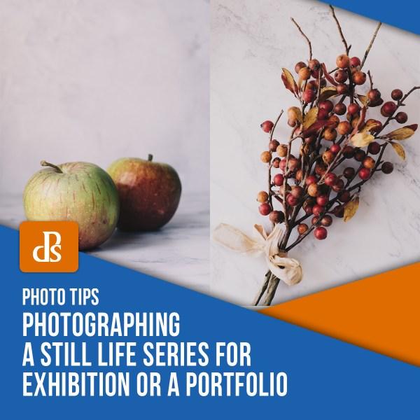Fotografando uma série de naturezas-mortas para exposição ou portfólio