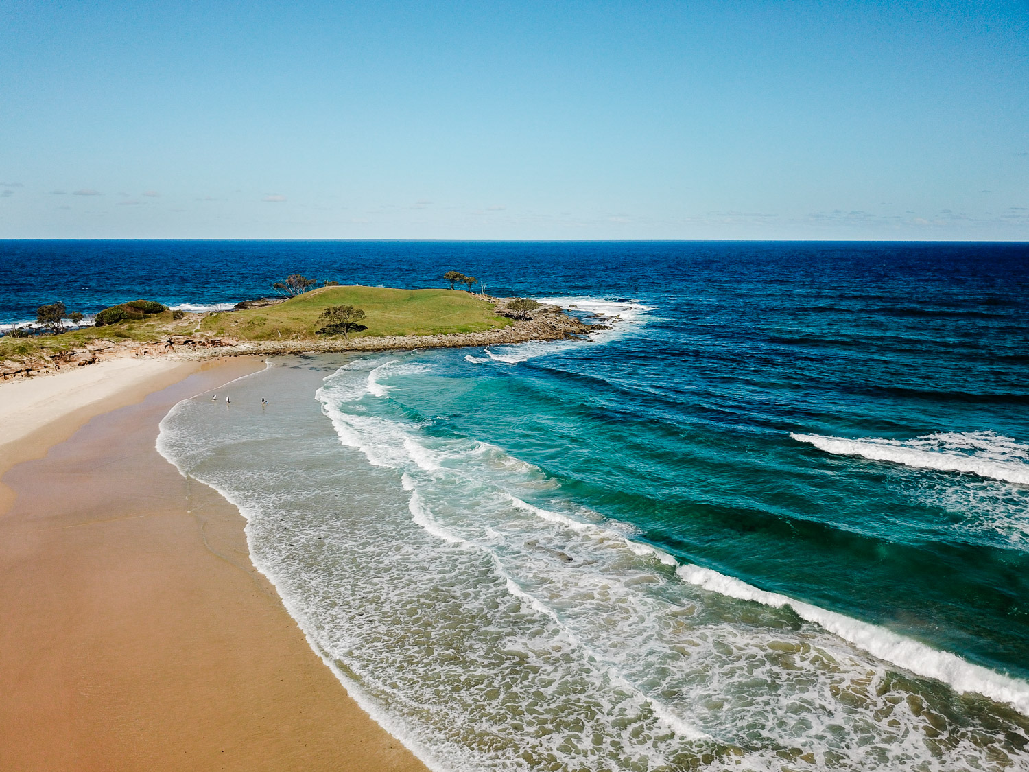 Horizon shot of the stunning coastline in northern New South Wales.