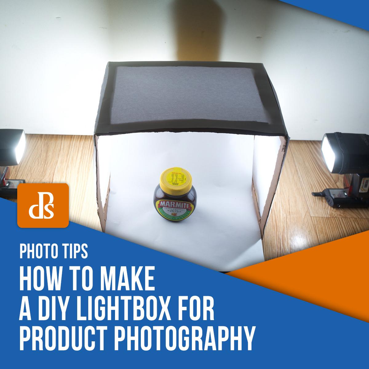 Caixa de luz DIY para fotografia de produtos