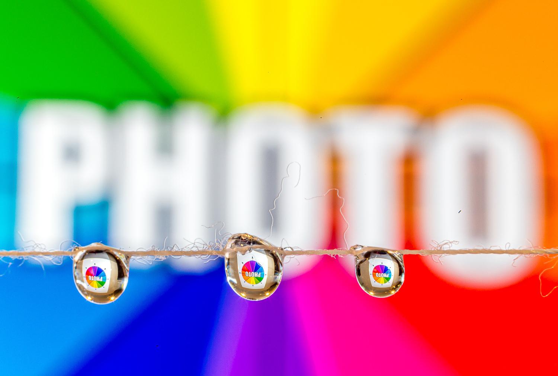 Truques fotográficos - refração de gotículas de água