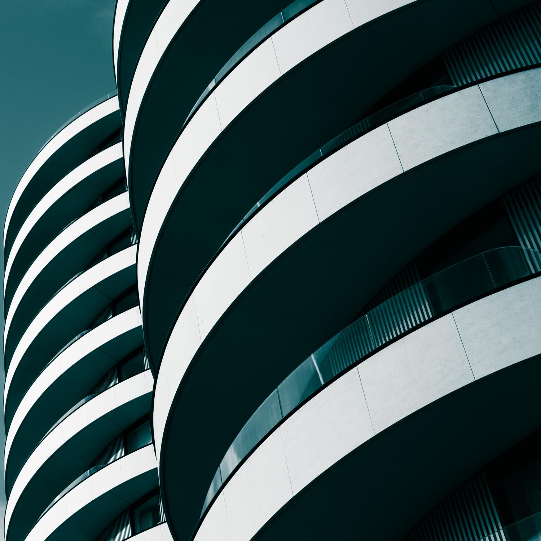 Fotografia abstrata repetindo construção