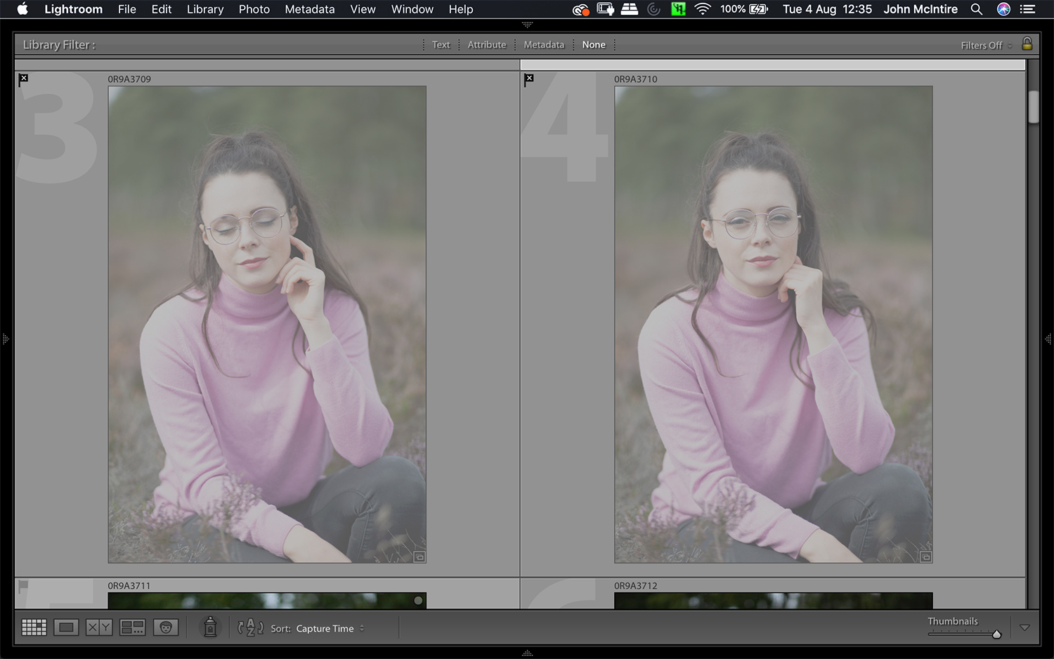 Lightroom lets you mark photos as rejects, which makes culling images a breeze.